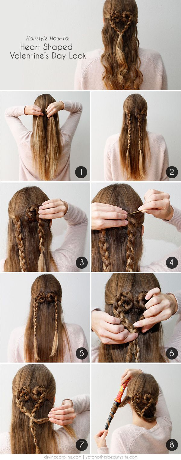 We Heart Valentine S Day Hair More Hair Styles Valentines Hairstyles Valentine S Day Hairstyles
