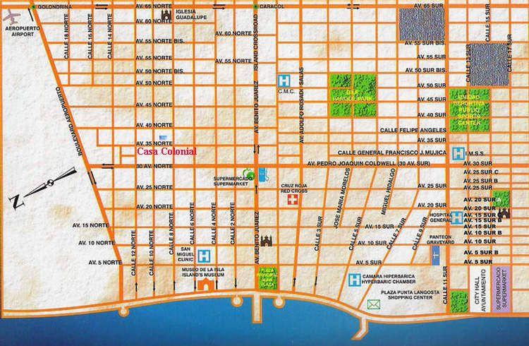 Cozumel Street Map Cozumel Cozumel Map Map