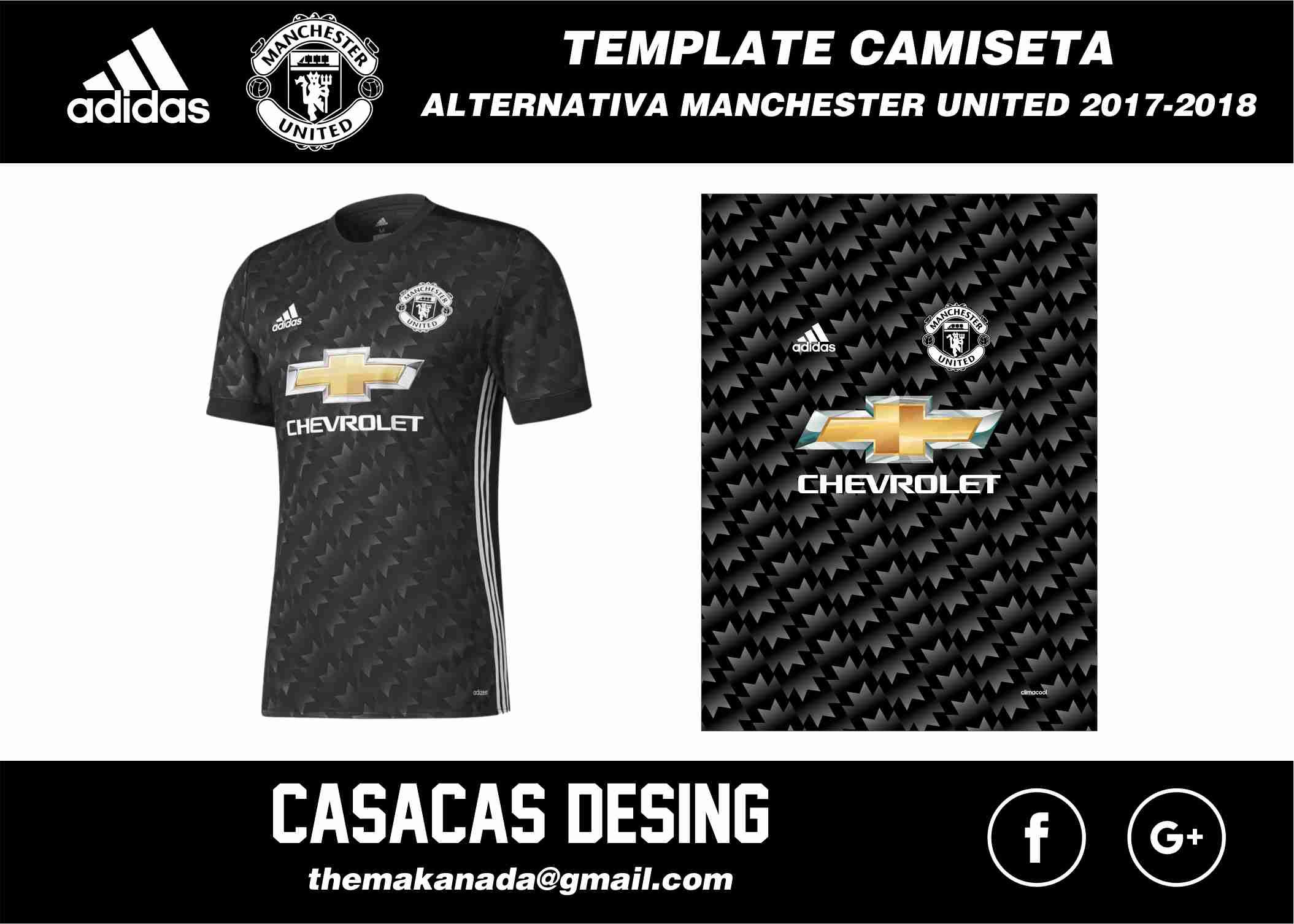 Vector Camiseta Alternativa Manchester United 2018  7e1a0b8ca5177