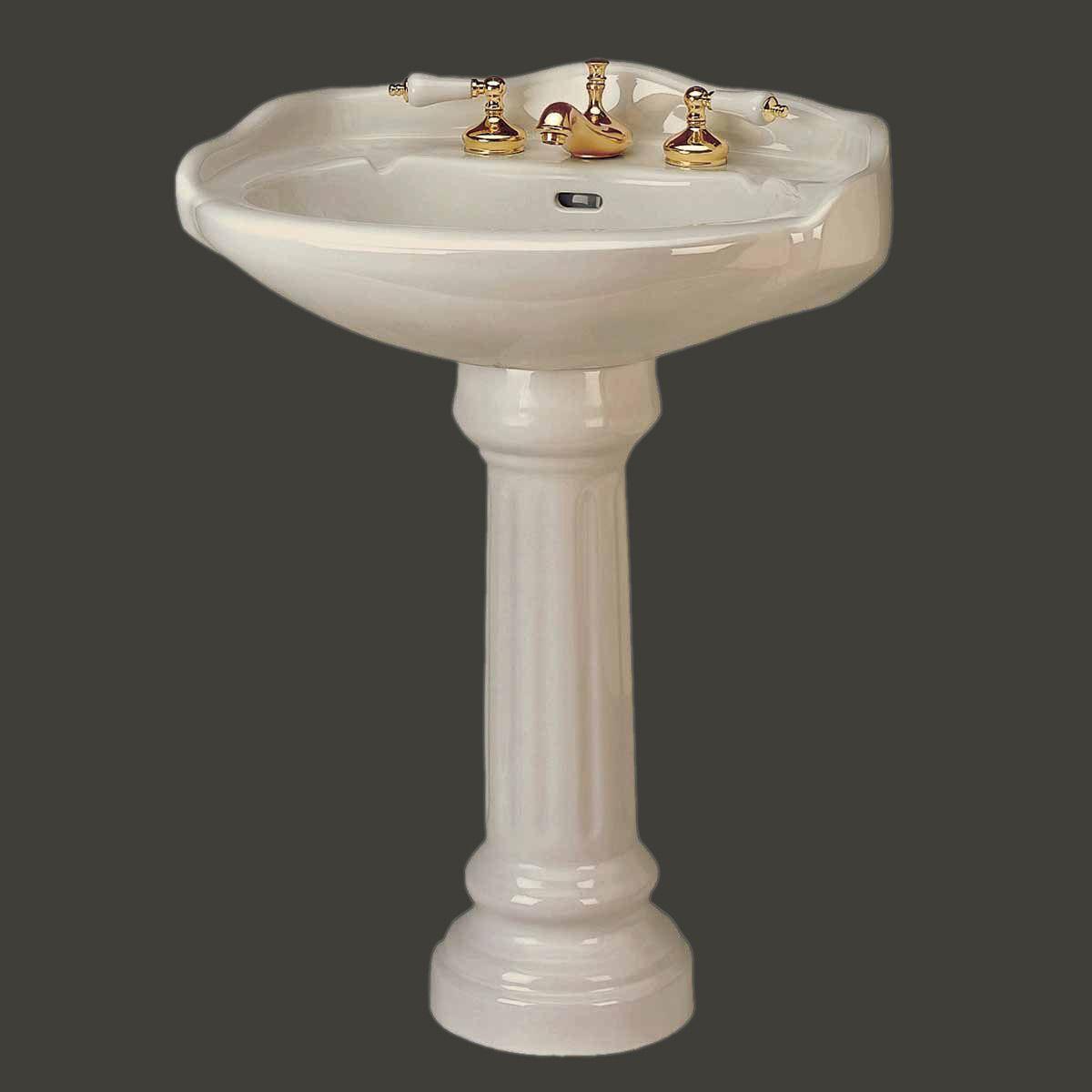 Item #97731 : Medium Bone Pedestal Sink Grade A Vitreous China Open ...