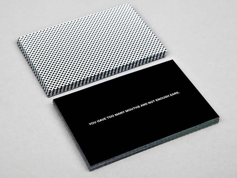 Sagmeister Walsh For The Luxe Project Sagmeister Sagmeister And Walsh Name Card Design