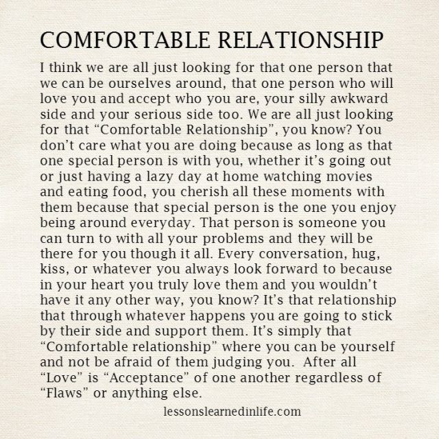 Comfortable relationship | Serious relationship quotes
