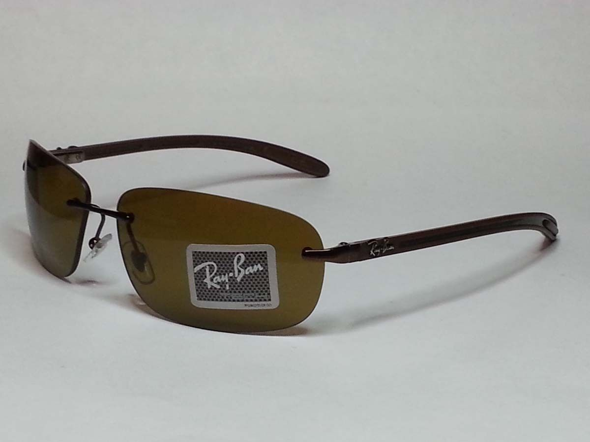 21cad4e9c0 ... reduced ray ban tech brown polarized mens sunglasses sport rimless  carbon fiber visit our ebay store