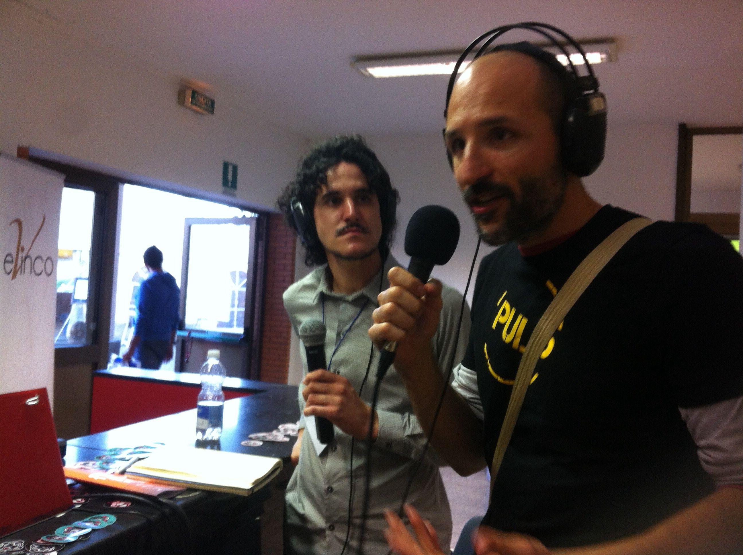 Simone Giusti, direttore della collana Pulp e autore di Pisa Connection, a Radio Eco.