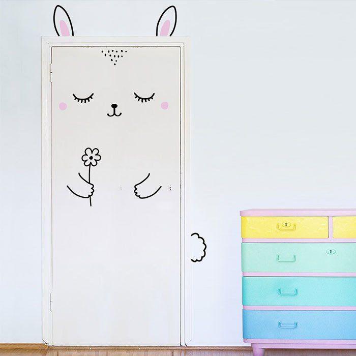 kinderzimmer hase tür dekorieren | Wandgestaltung - Tapeten ...