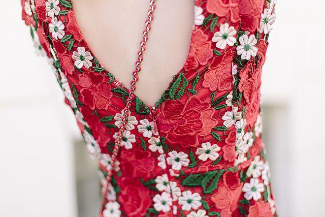 Red Floral Topshop Dress