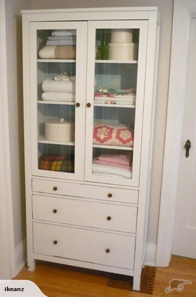 Ikea Hemnes Glass Door Cabinet 3 Drawers White Trade Me For The