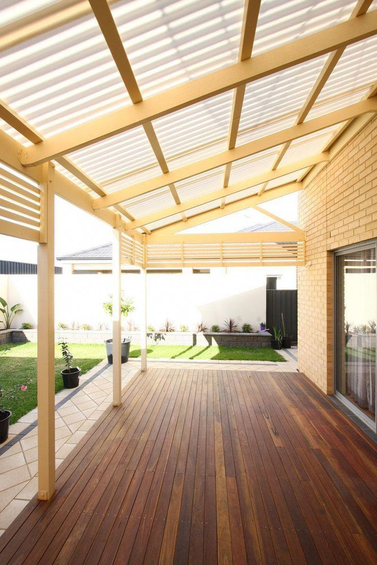 Best images about covered deck ideas pergola roof ... -