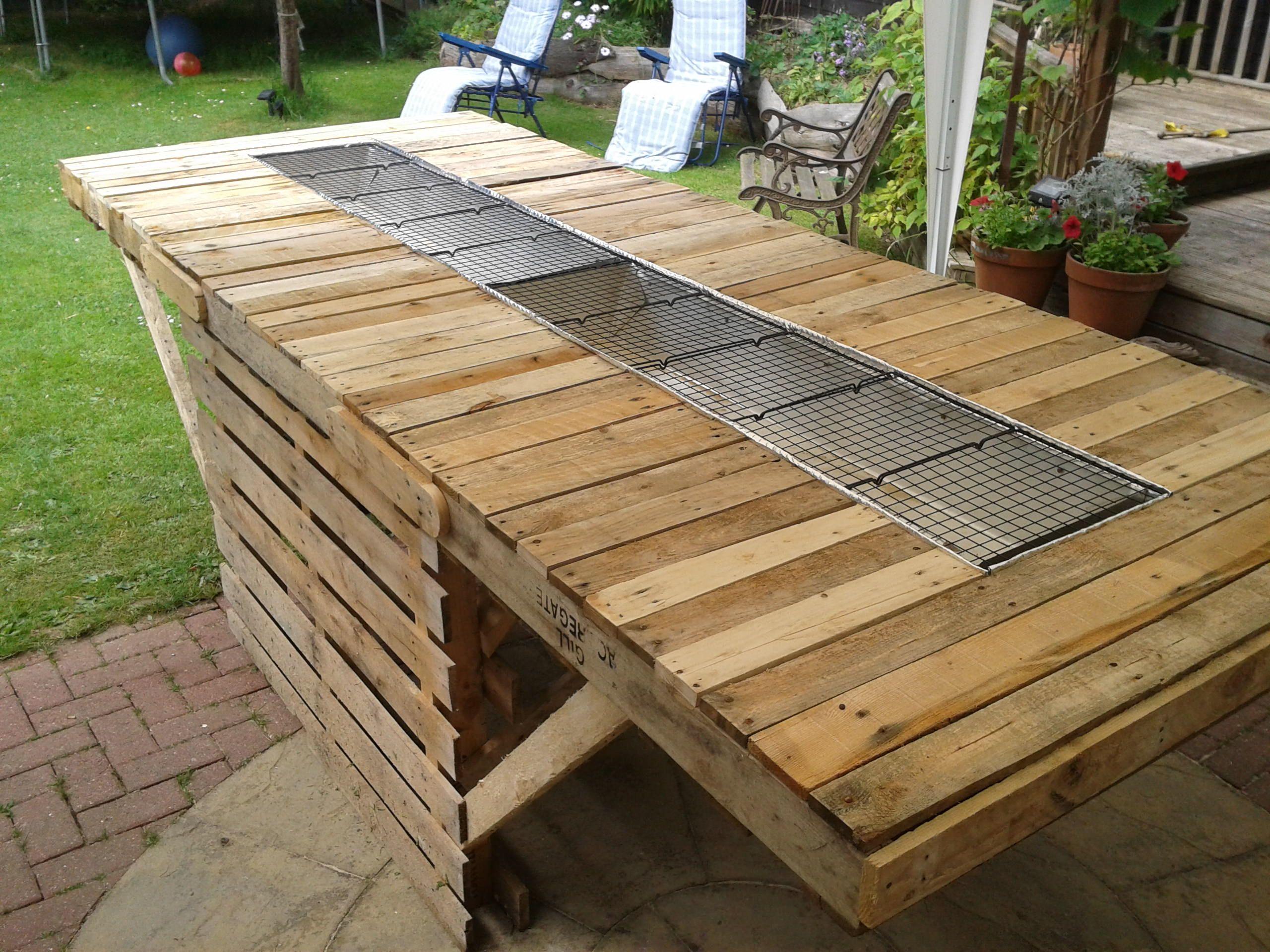 Pallet Bbq Table - Google Outdoor Kitchen