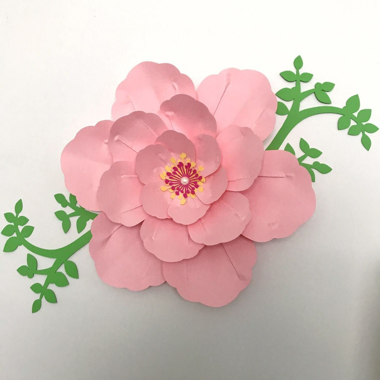 Cherry Blossom Time Check Out This Template Is Available In Our Store Paper Flowers Diy Paper Flowers Giant Paper Flowers