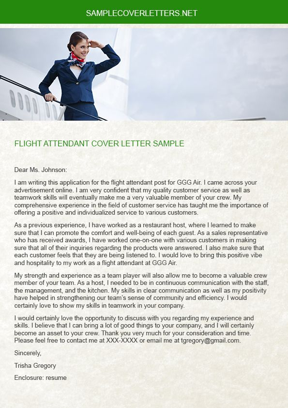 Flight Attendant Cover Letter Flight Attendant Flight Attendant