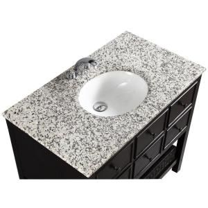 Simpli Home, Burnaby 36 in. Vanity in Espresso Brown with Granite Vanity Top in Dappled Grey and Undermounted Oval Sink, NL-DAVENPORT-EB-36-2A at The Home Depot - Tablet