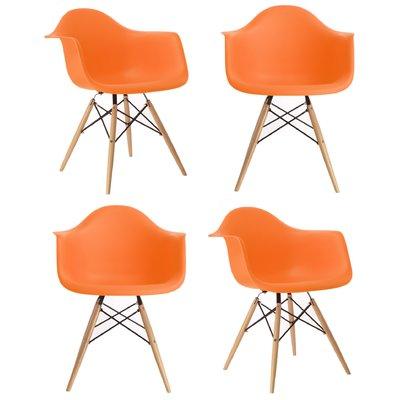 Amazing Emodern Decor Scandinavian Dining Chair Finish Orange Cjindustries Chair Design For Home Cjindustriesco