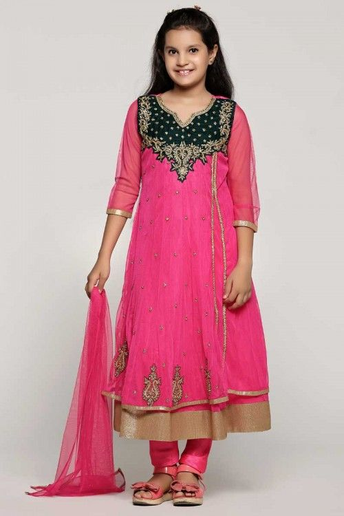 eb883663eb64 Rani net anarkal suit. Neckline   hem with zircon