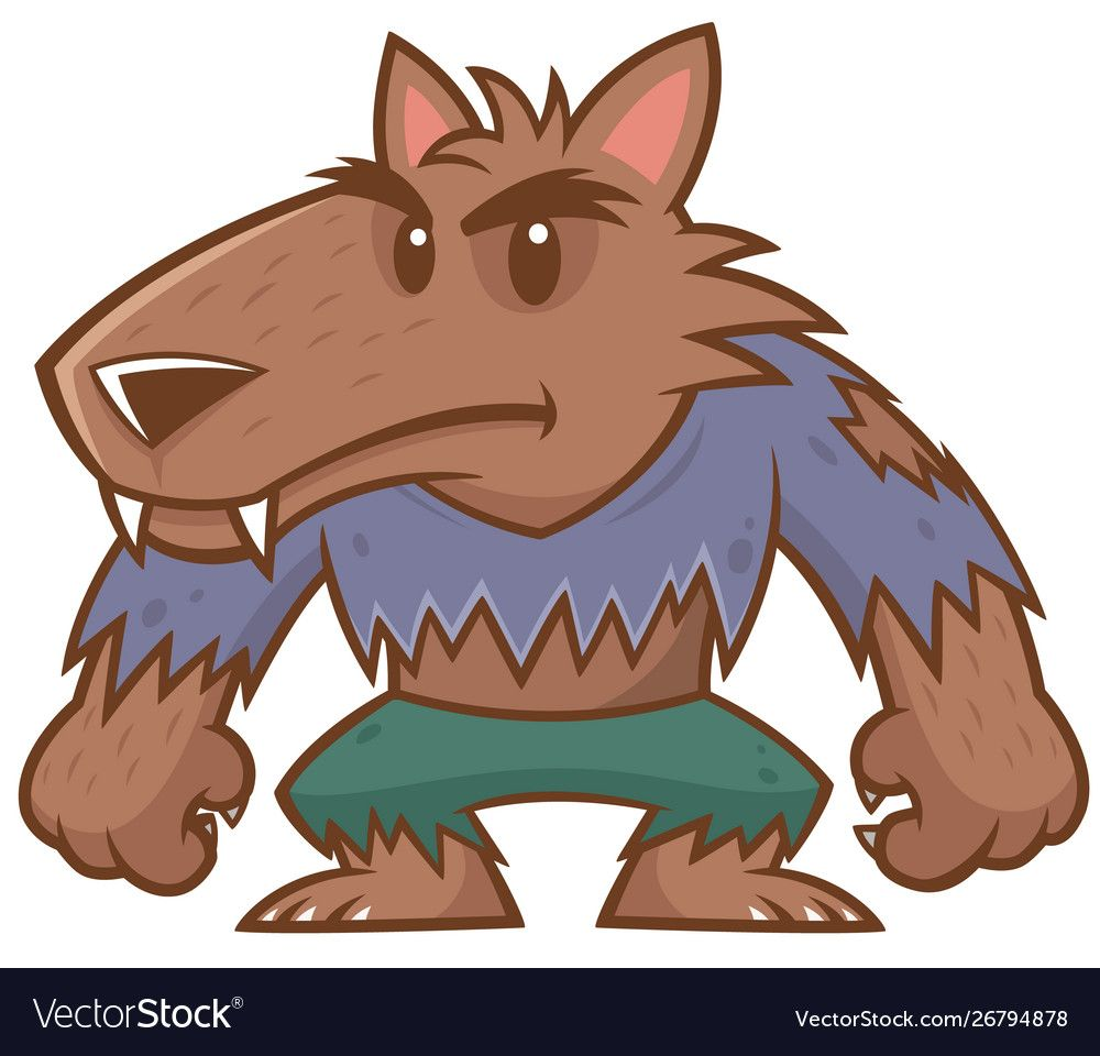 Vector Illustration Of Halloween Werewolf Cartoon Download A Free Preview Or High Quality Adobe Illustrator Ai Eps Cartoon Design Creepy Cute Vector Images