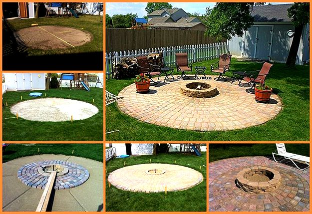 How To Build A Patio And Fire Pit With Easy Instructions And Step
