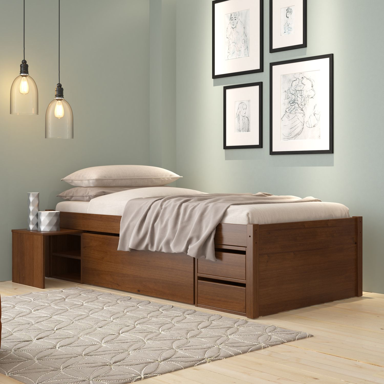Cama Solteiro Multifuncional Com 3 Gavetas Closet Siena Moveis