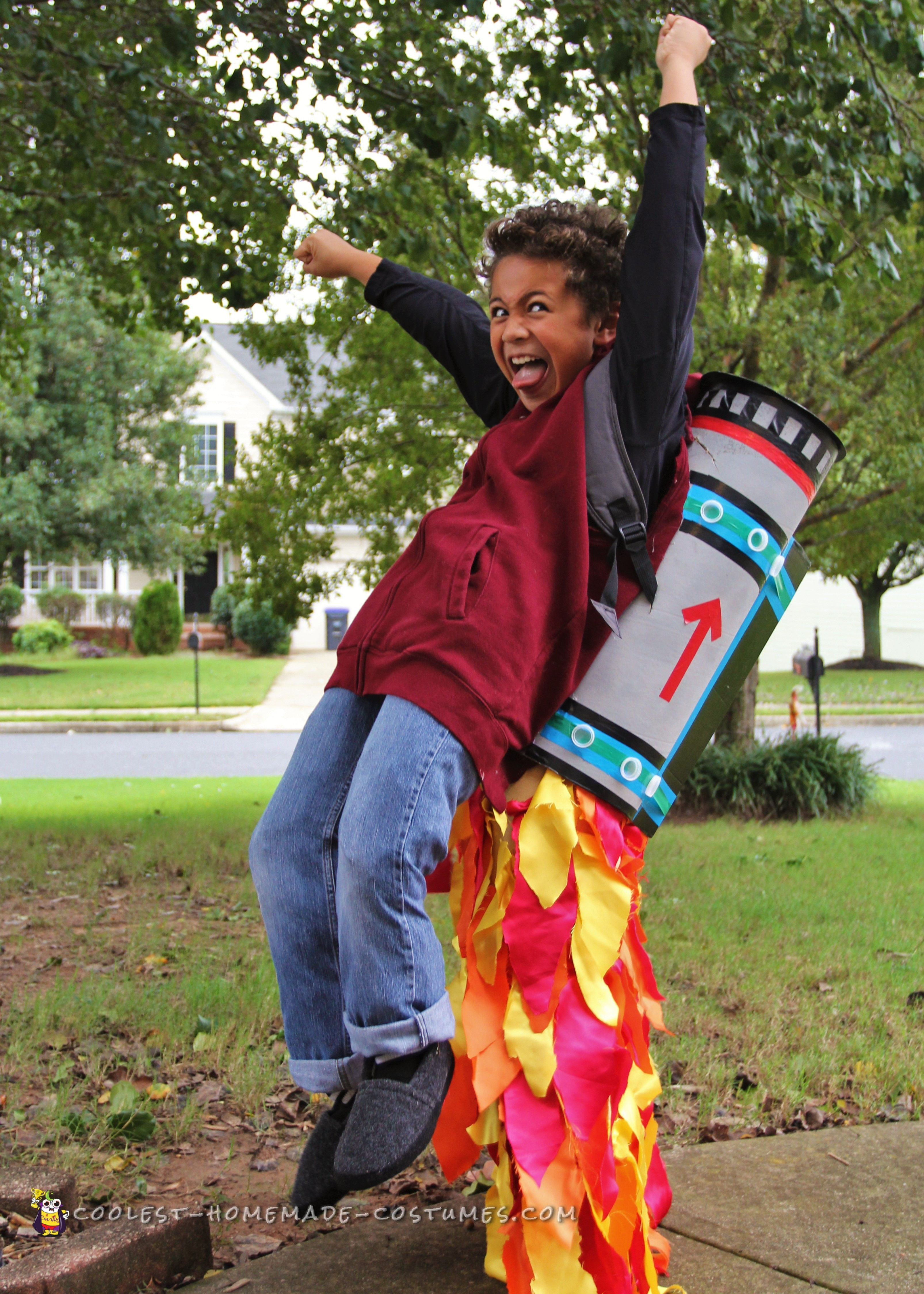 Cool Jet Pack Illusion Costume... Coolest Homemade