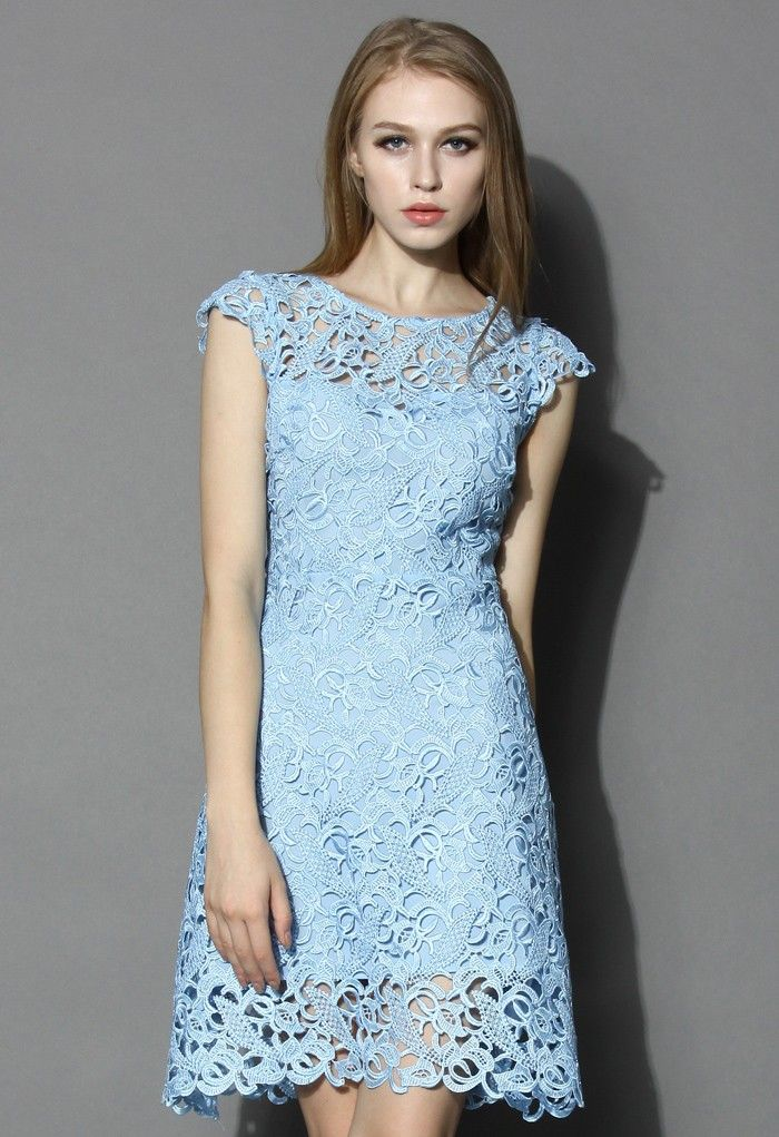 dbe0e70d3b8 Blue Jasmine Lace Crochet Dress