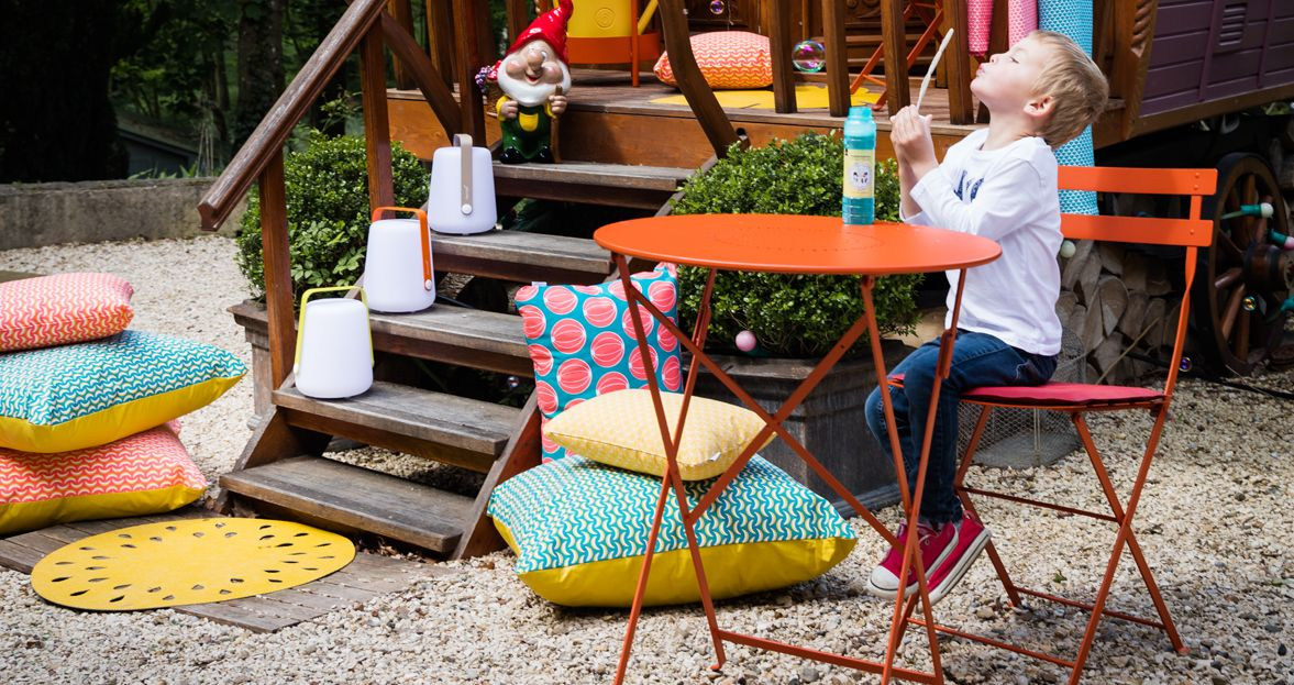 Fermob Chaise Métal Collection Bistro. Mobilier De Jardin Pliable