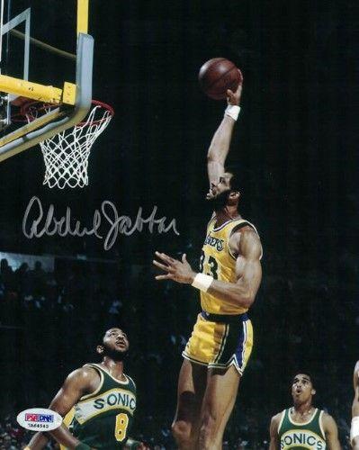 Kareem Abdul Jabbar Autographed Los Angeles Lakers 8x10 Photo Psa Dna Kareem Abdul Jabbar Los Angeles Lakers La Lakers