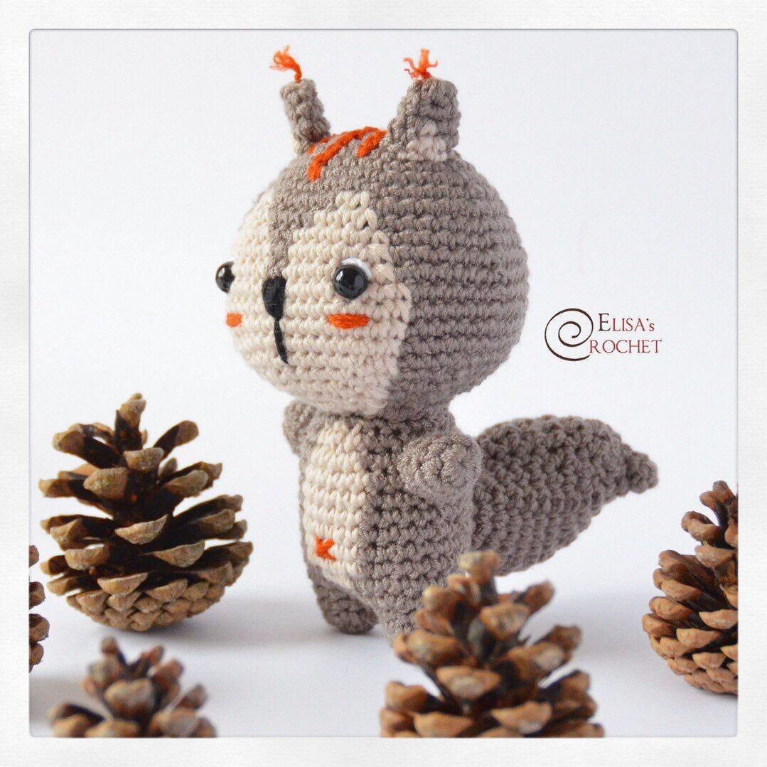Crochet Pattern Baby Squirrel Amigurumi Doll Stuffed Doll Etsy Amigurumi Doll Handmade Plushies Crochet Patterns [ 1079 x 1079 Pixel ]