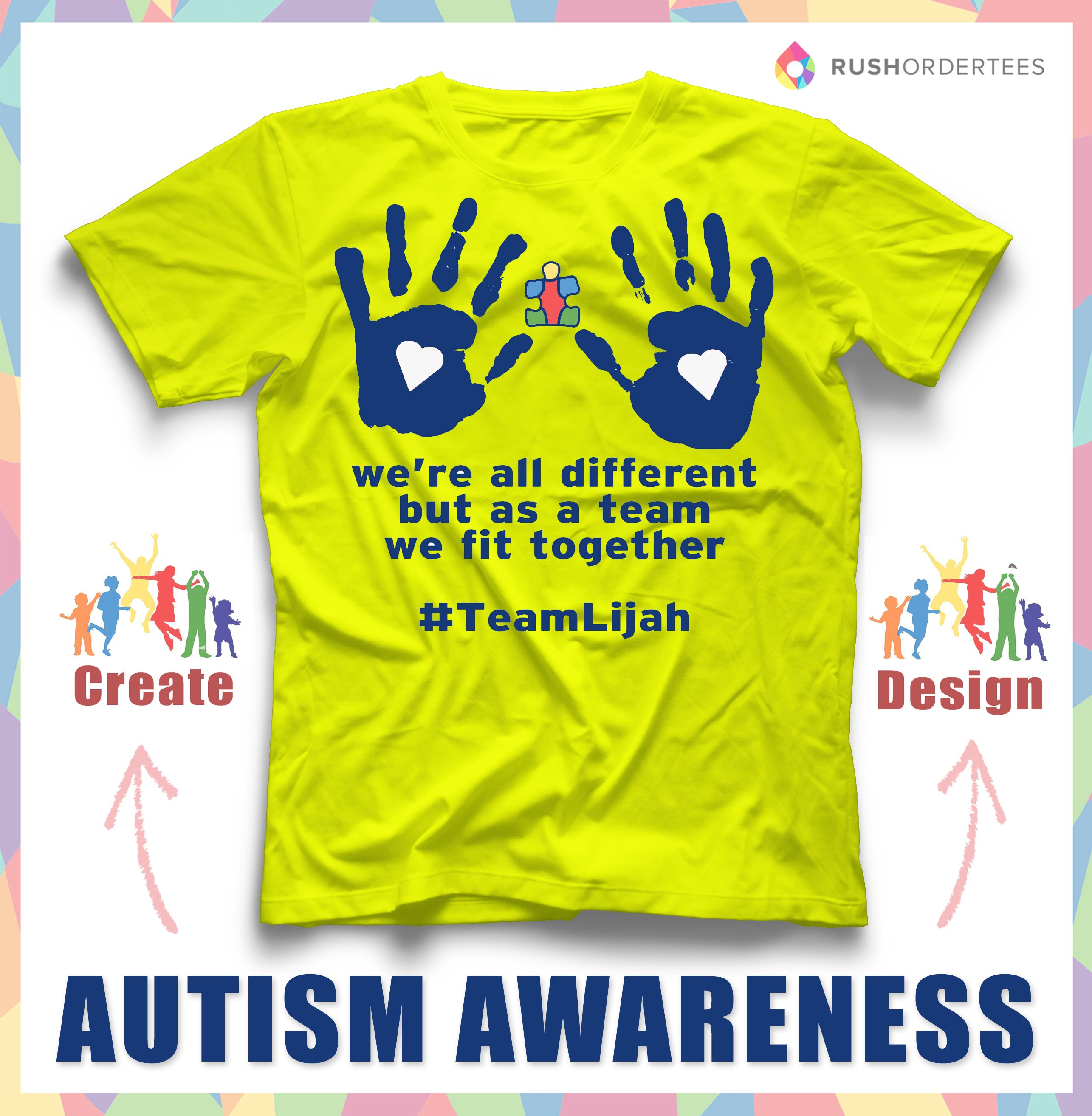 Were All Different But As A Team We Fit Together Support Autism