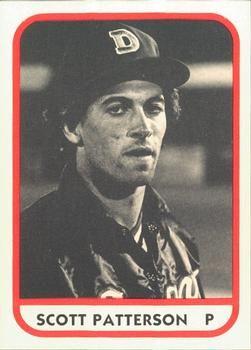 1981 Tcma Durham Bulls 22 Scott Patterson Front 1981 Baseball