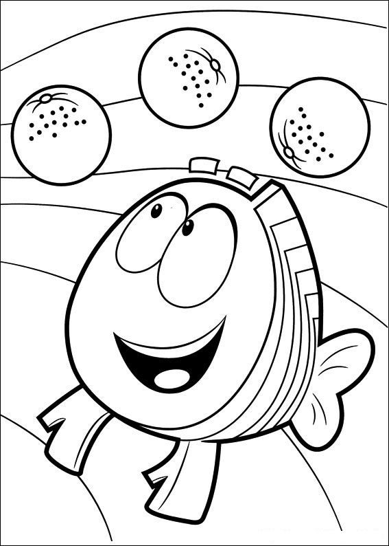 coloring page Bubble Guppies - Bubble Guppies | Cumple | Pinterest ...
