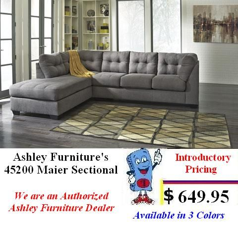 Ashley Furniture Maier Collection Sectional 2 Pc plete