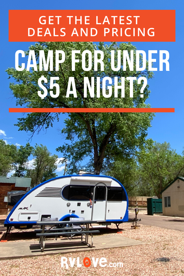 Get the BEST Prices on RV Camping - Under $5 a Night!? in ...