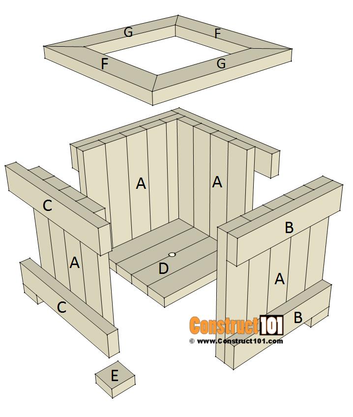 2x4 Planter Box Plans Free Pdf Download Construct101 Woodworking Furniture Plans Woodworking Plans Diy Planter Box Plans