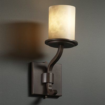 Justice design group cld 8781 10 clouds sonoma short wall sconce