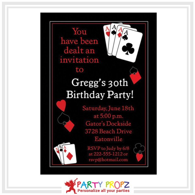 Go Invite In Style The Extra Mile Purchasing Perfect Whatsapp Invitation Card For Your Casino Themed Birthday Party Amp Up Excitement