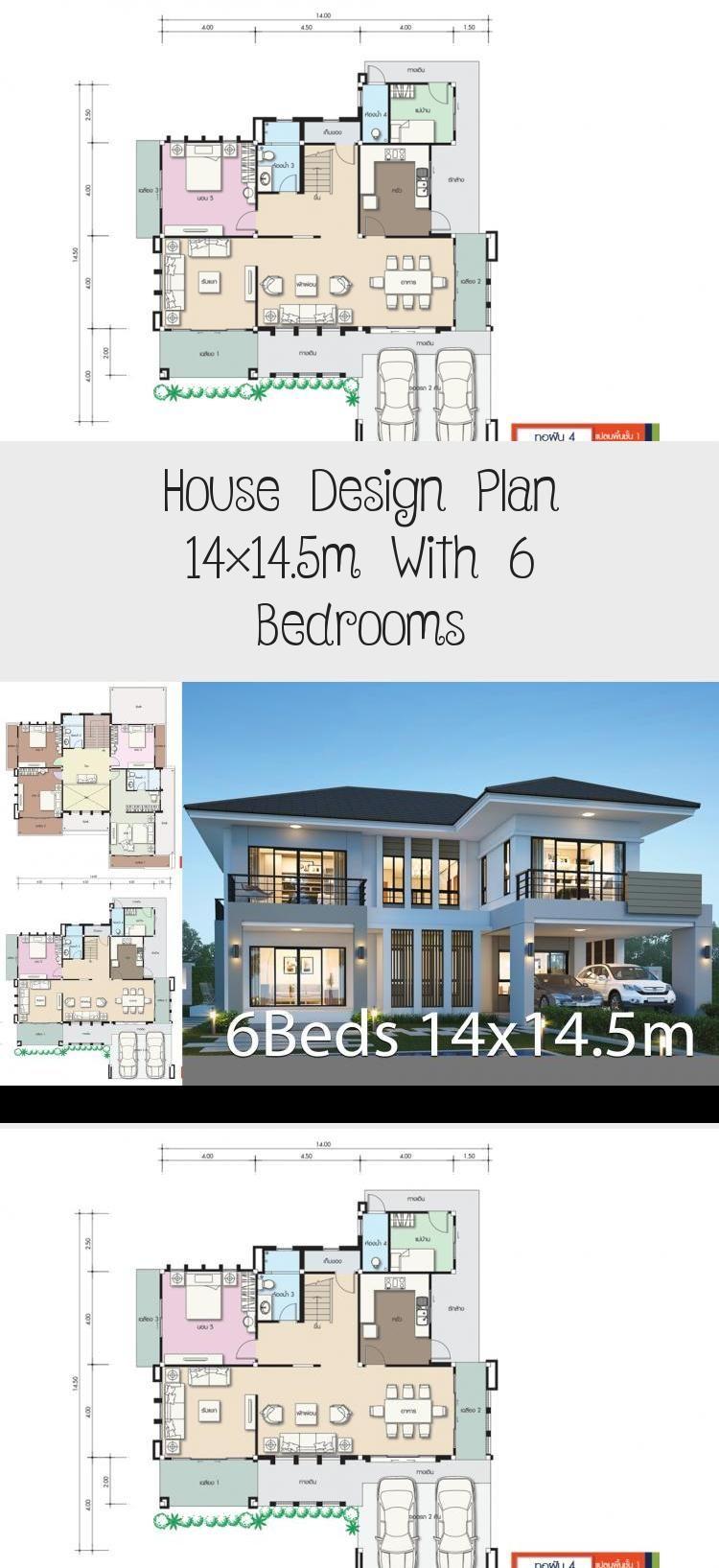 House Design Plan 14x14 5m With 6 Bedrooms Home Design With Plansearch Uniquehouseplans Largehousepla In 2020 Home Design Plans Unique House Plans Sims House Plans