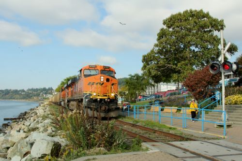 Train along the promenade!  White Rock