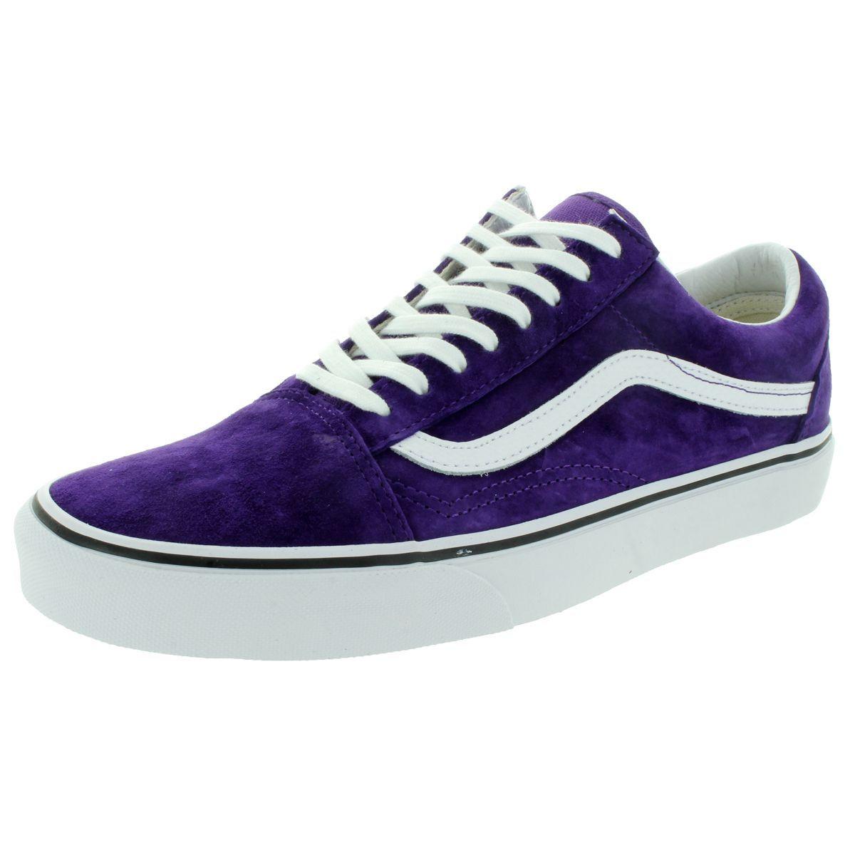 Suede skate shoes, Purple vans