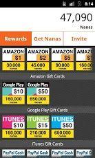 appnana free gift card rewards type in code 1036577 for 2500 nana - Free Gift Card Rewards