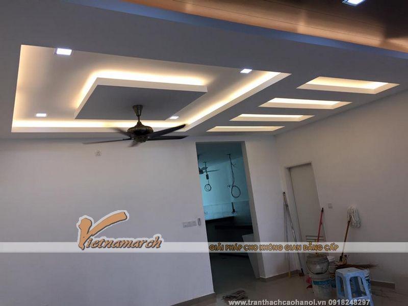 Hoàn thiện trần thạch cao cho nhà chị Tâm ở Khương Đình - Thanh Xuân - Techos Interiores Con Luces
