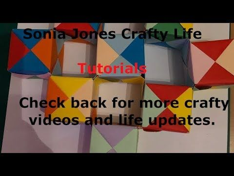 Moving Origami Cubes Sonobe Tutorial Paper Craft Pinterest