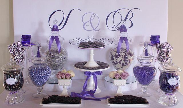 Wedding Party Ideas Purple Candy BuffetWedding
