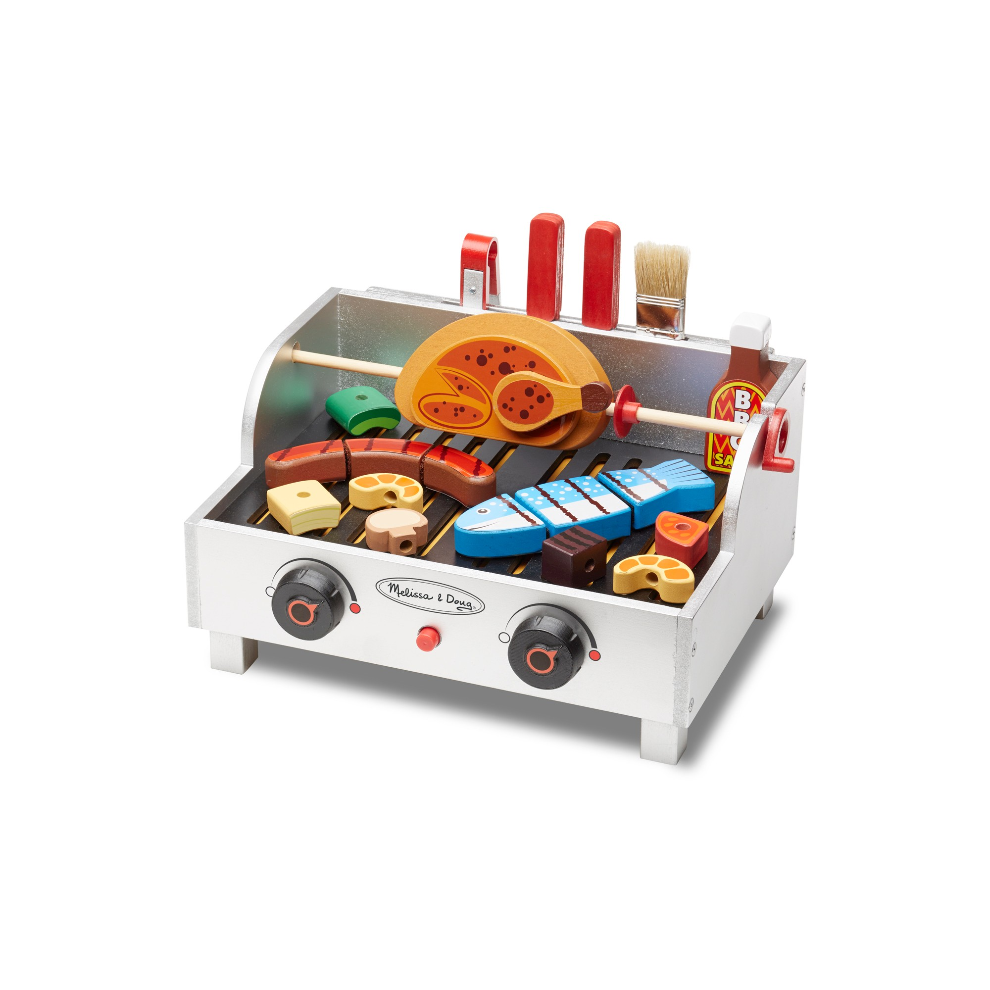 Melissa Doug Rotisserie And Grill Wooden Barbecue Play