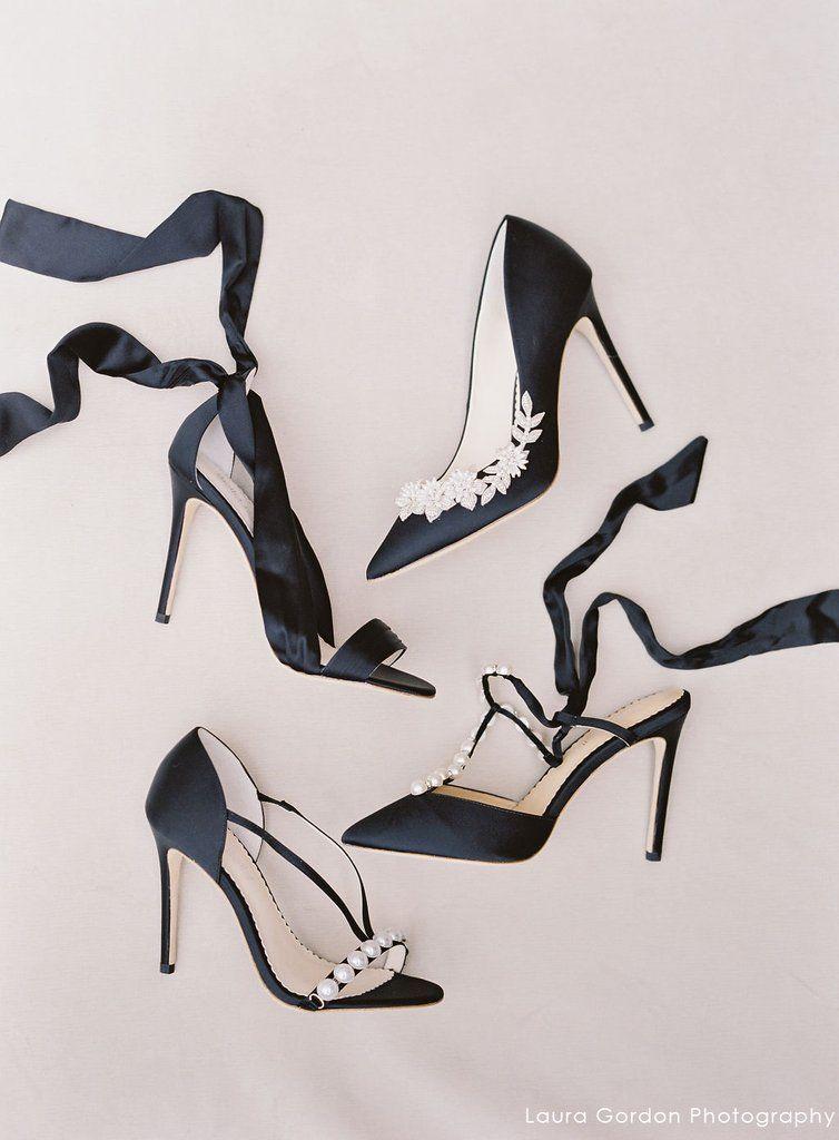 a8b8a429f70 Kate - Criss Cross Silk Bow Black Evening Shoe in 2019 | Evening ...