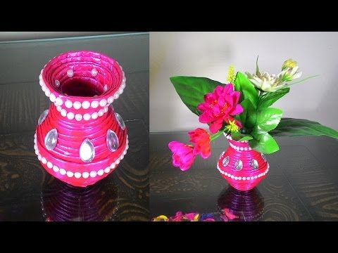 Newspaper Flower Vase Flower Pot Best Out Of Waste Diy Art
