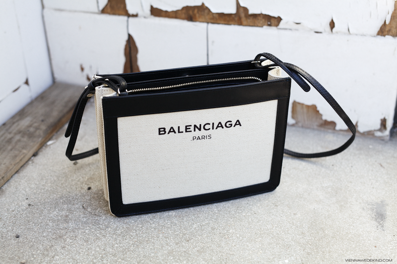 8f4074f71 Balenciaga Navy Pochette | More on viennawedekind.com Balenciaga Bag, Canvas  Leather, Cotton