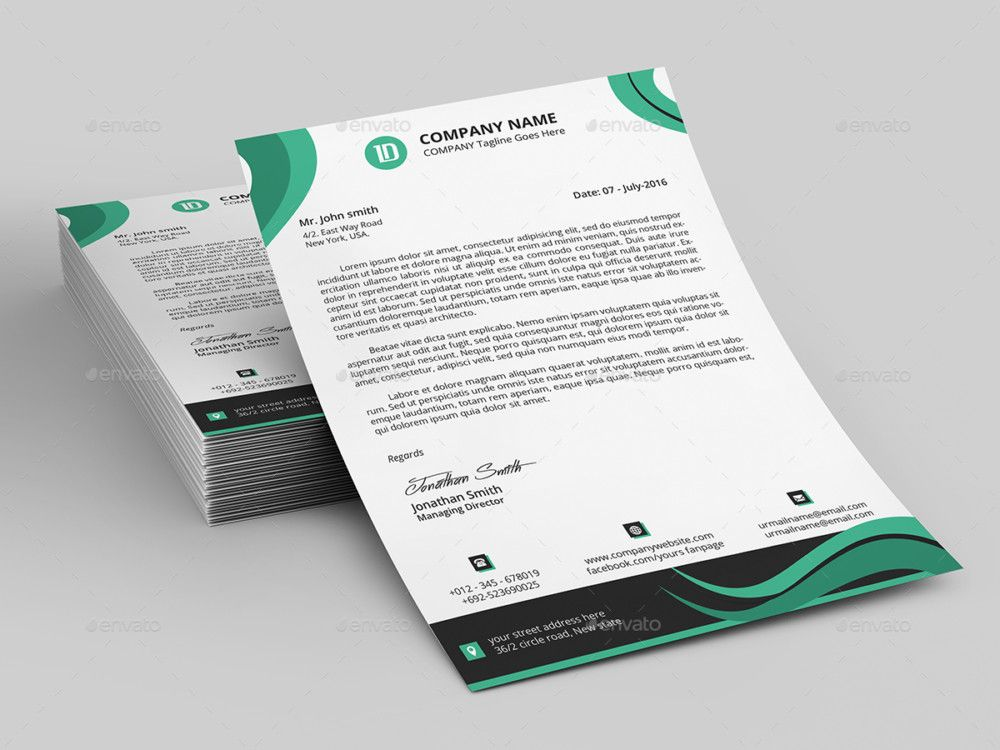 15+ Creative Professional Letterhead Template Word Letterhead - professional word templates