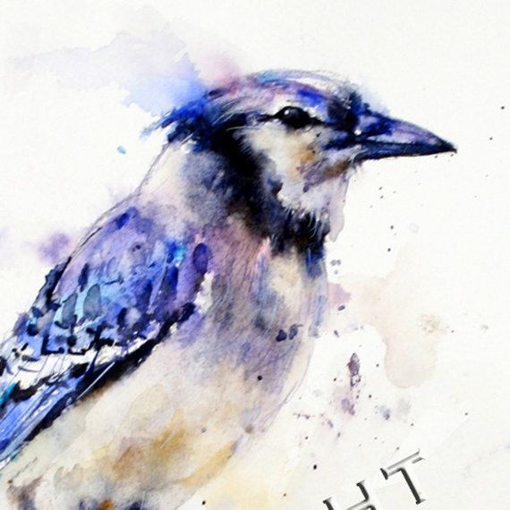 blue jay tattoo water color | BLUE JAY Original Watercolor ...