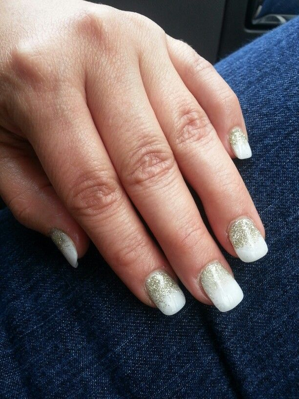 White & gold (nexgen nails) | nails | Pinterest