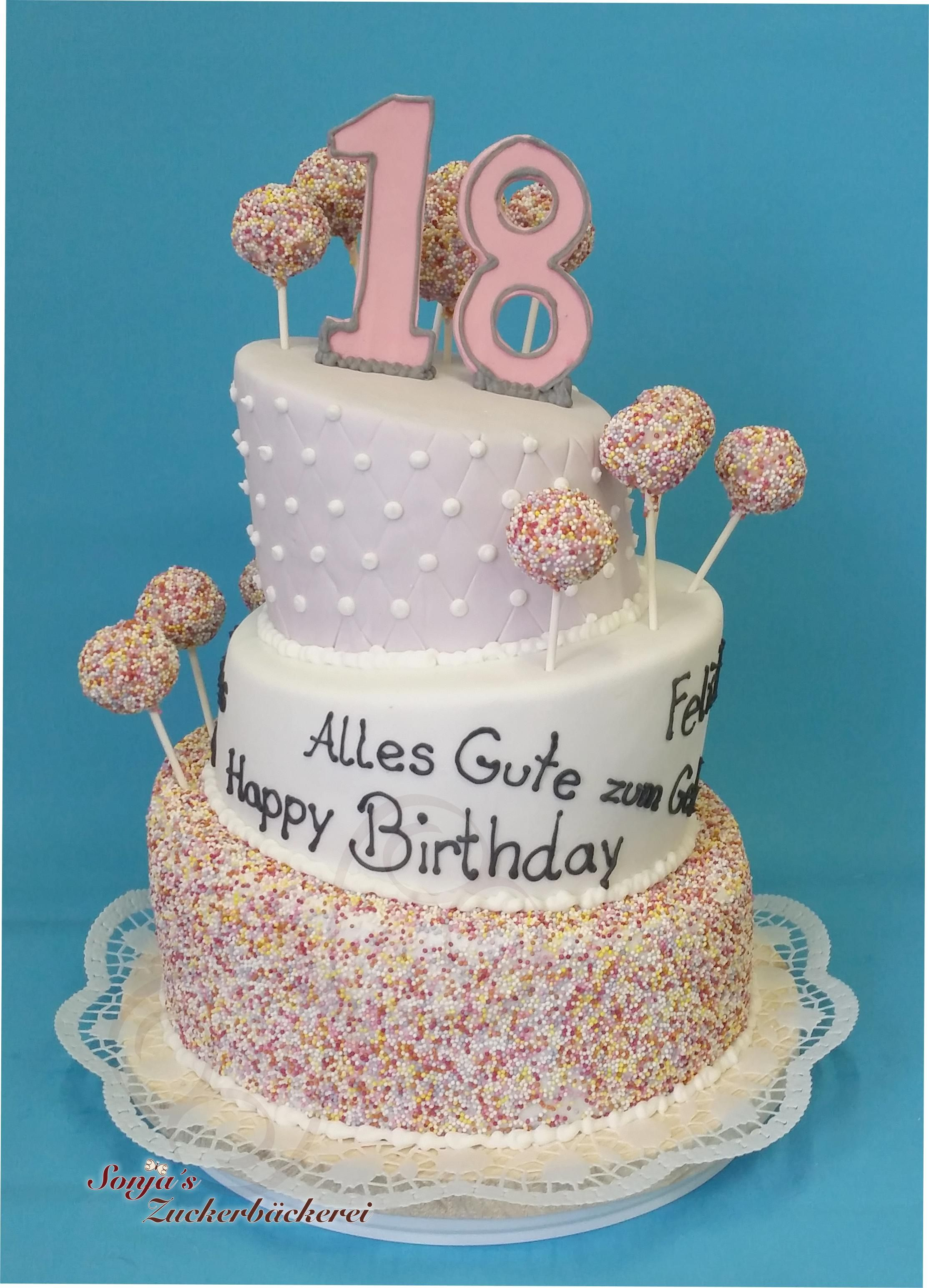 Torte 18 Geburtstag Deknappekikker