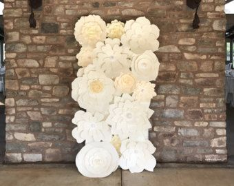 Paper flower backdrops are  cool and refreshing way to enhance the decor for your wedding or event we send you flowers use them create also large wall nursery by barbanndesigns big rh pinterest